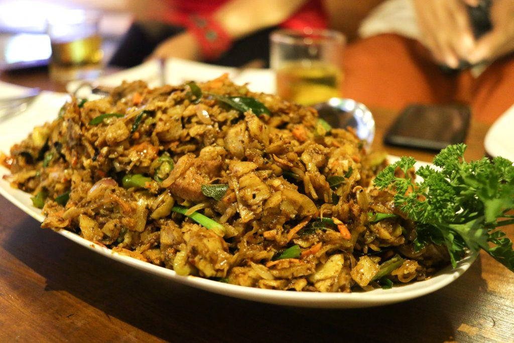 Sri lanka kottu roti foer dinner
