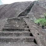 Steps to Rock Temple